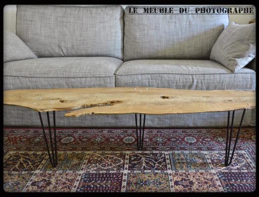 Table planche arbre sur hairpin legs