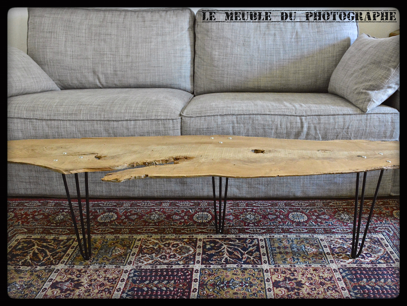 Planche d 39 arbre sur hairpin legs le meuble du photographe for Le meuble du photographe
