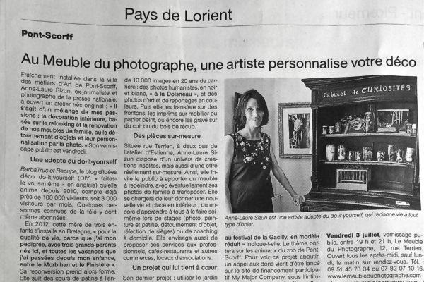 Article Ouest-France -4 juillet 2017