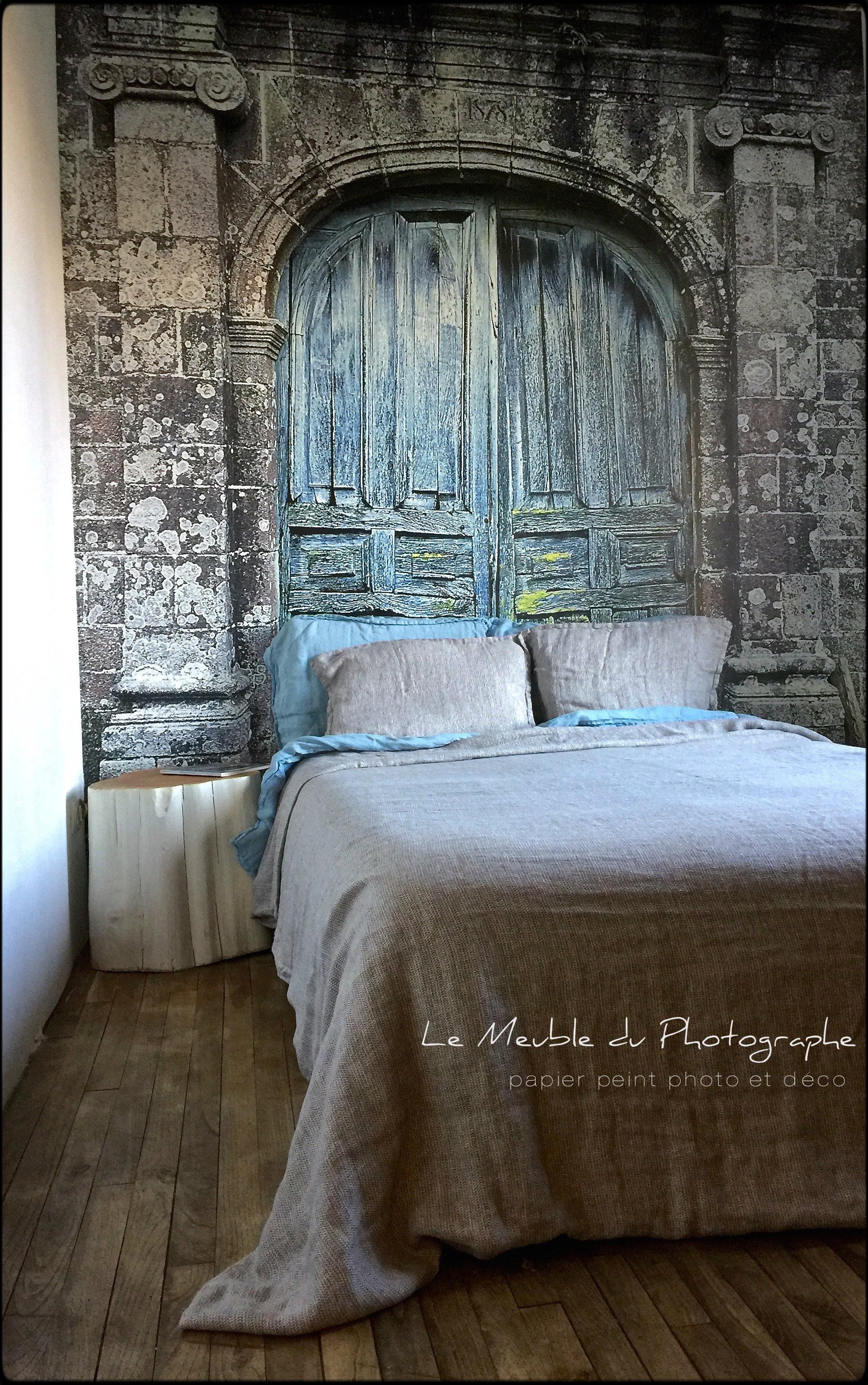 Papier peint trompe l oeil pour chambre latest great papier peint photo la porte de chteau with - Trompe l oeil chambre ...