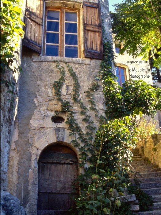 papier peint maison Lubéron