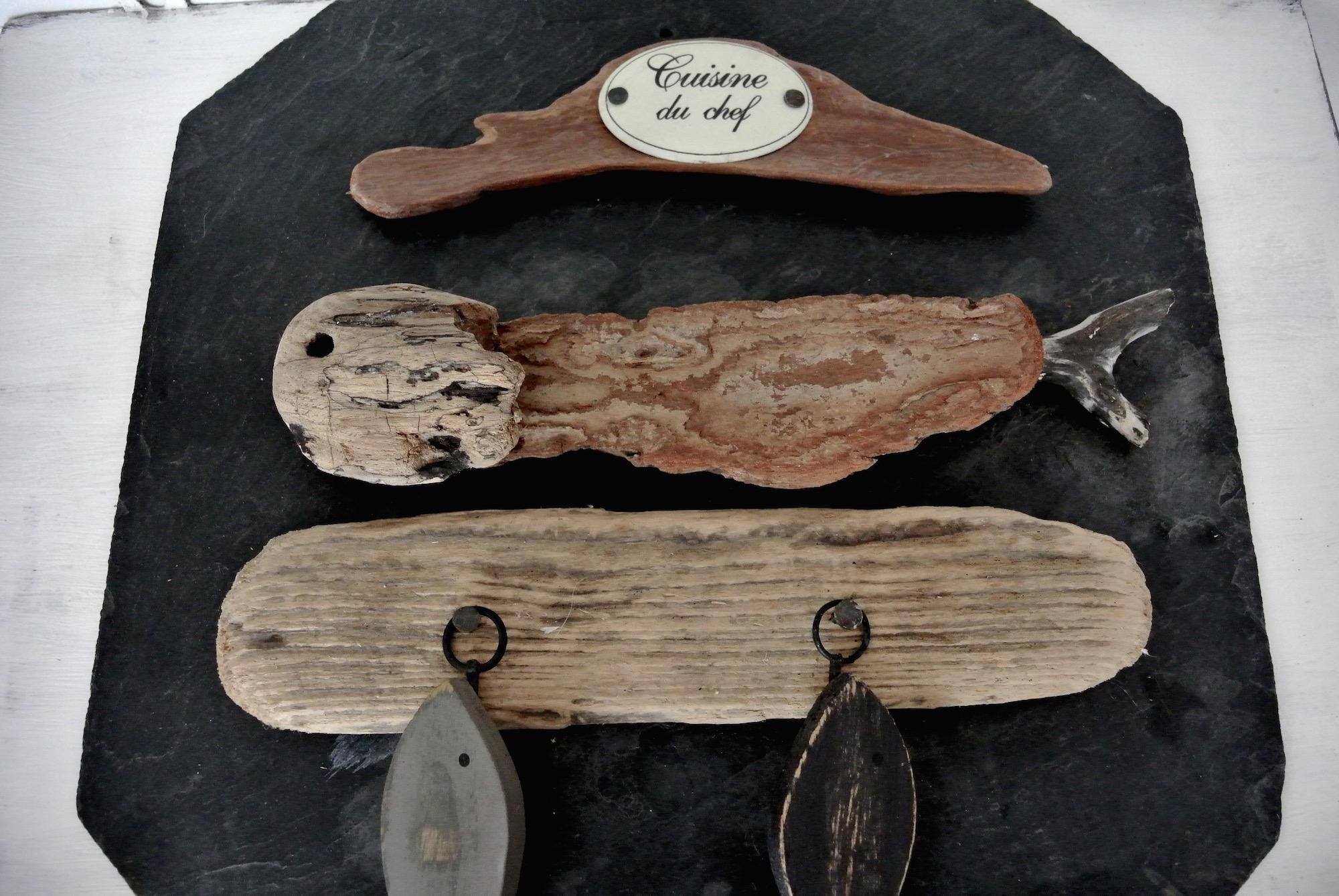 Poisson bois flotté + patères - Le Meuble Du Photographe