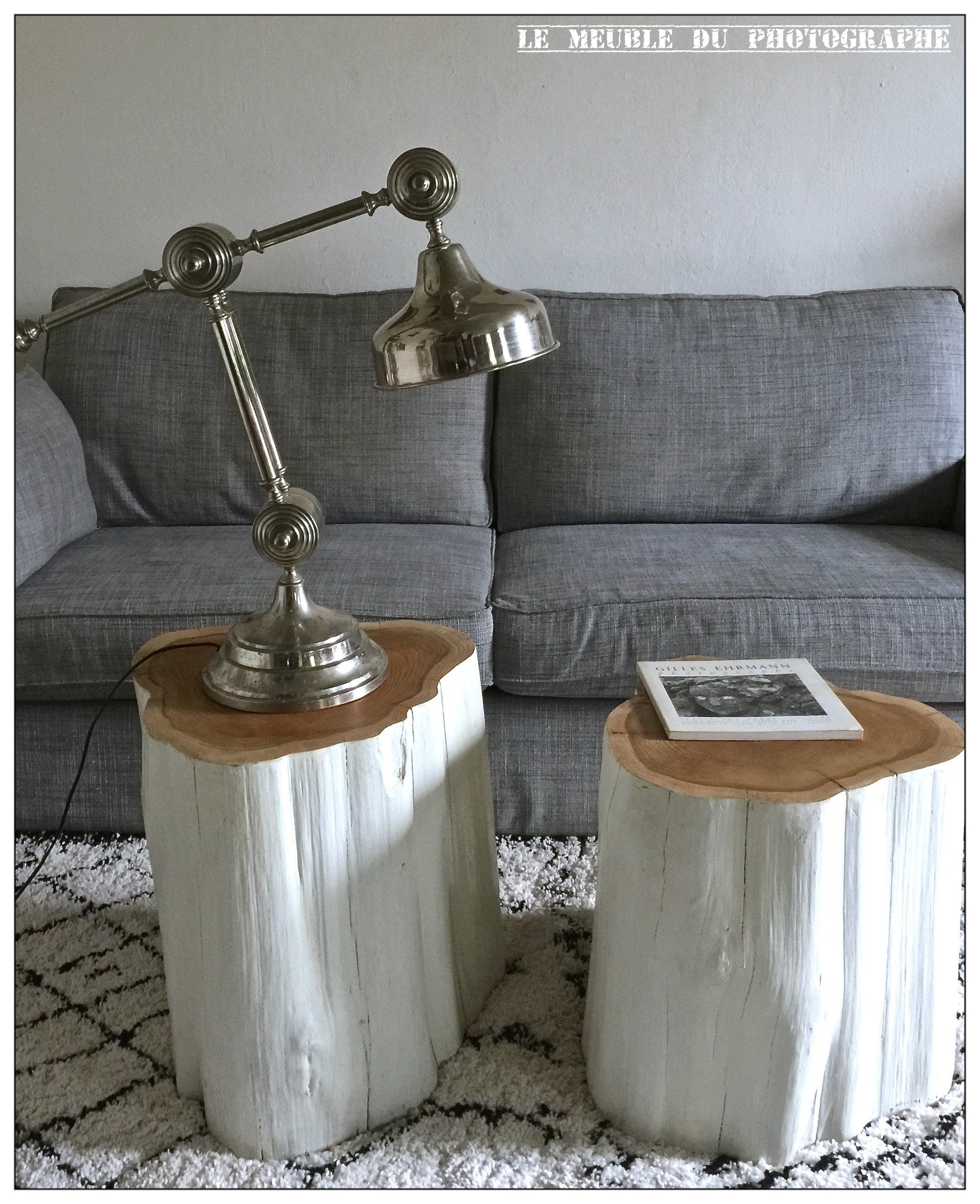 rondin de bois laqu blanc 2 id al chevet le meuble du photographe. Black Bedroom Furniture Sets. Home Design Ideas