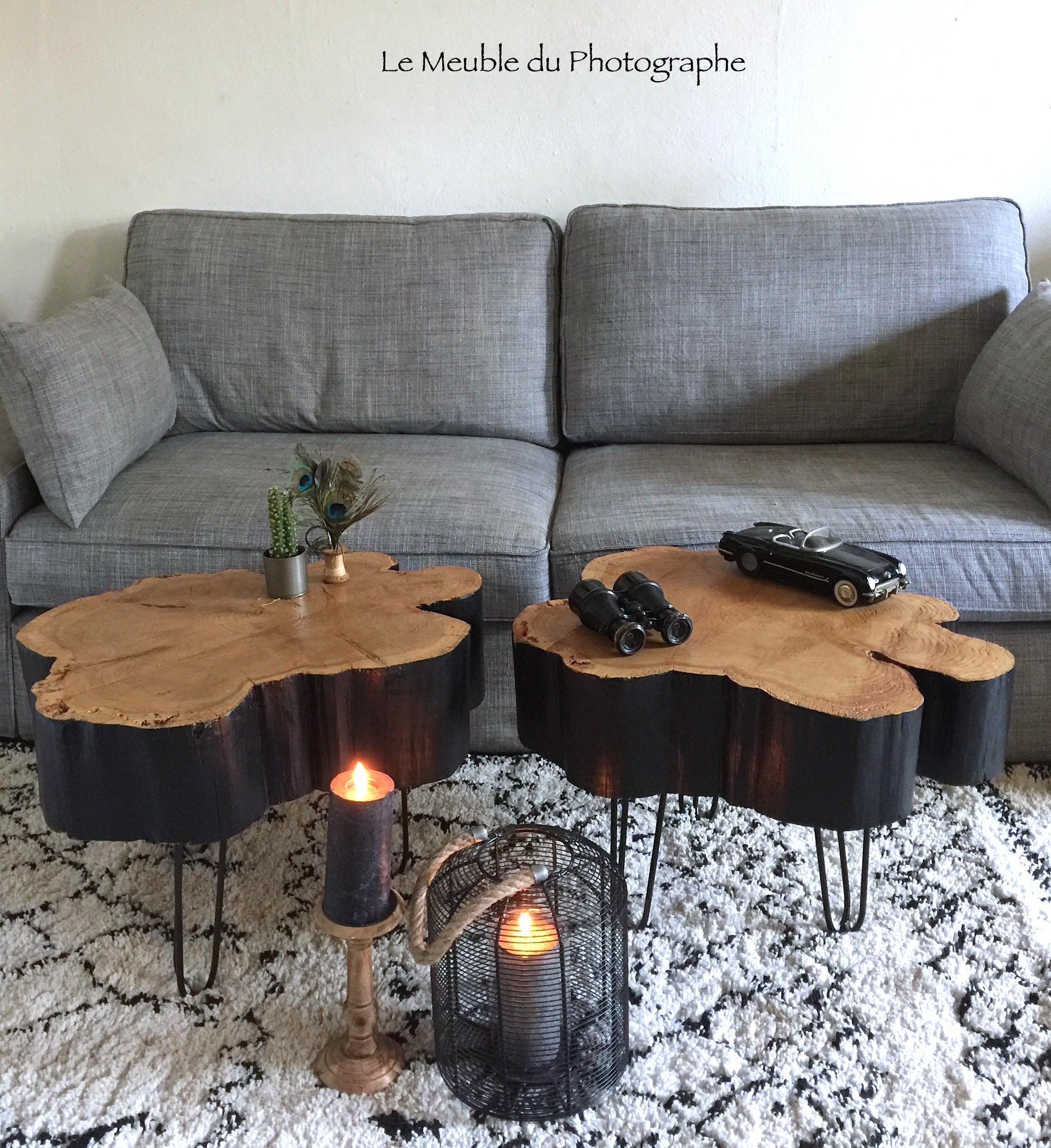 table basse rondin beautiful finest table basse tripode avec pieds compas diy tutoriel. Black Bedroom Furniture Sets. Home Design Ideas