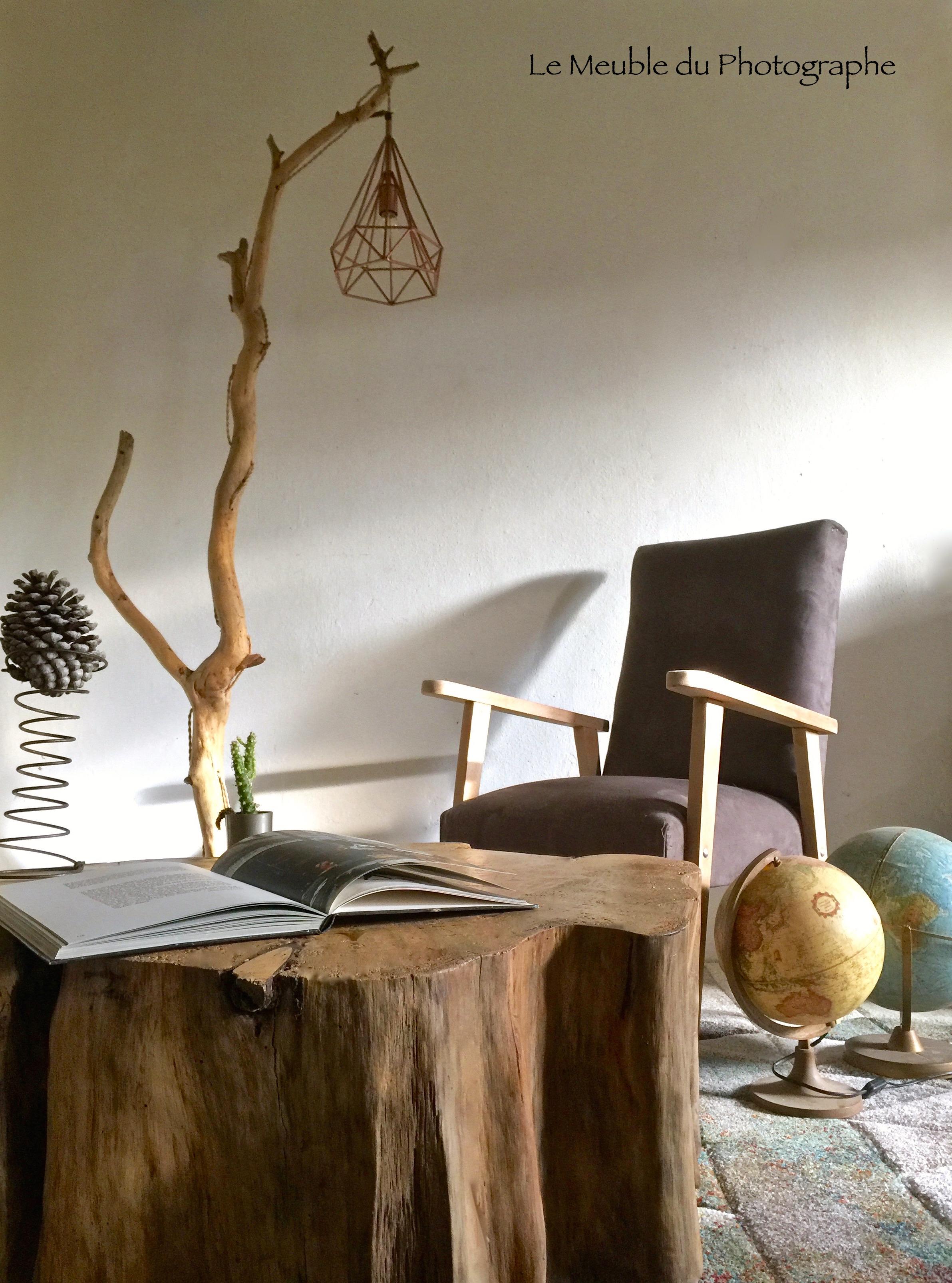 grand lampadaire branche de h tre 1m90 le meuble du photographe. Black Bedroom Furniture Sets. Home Design Ideas