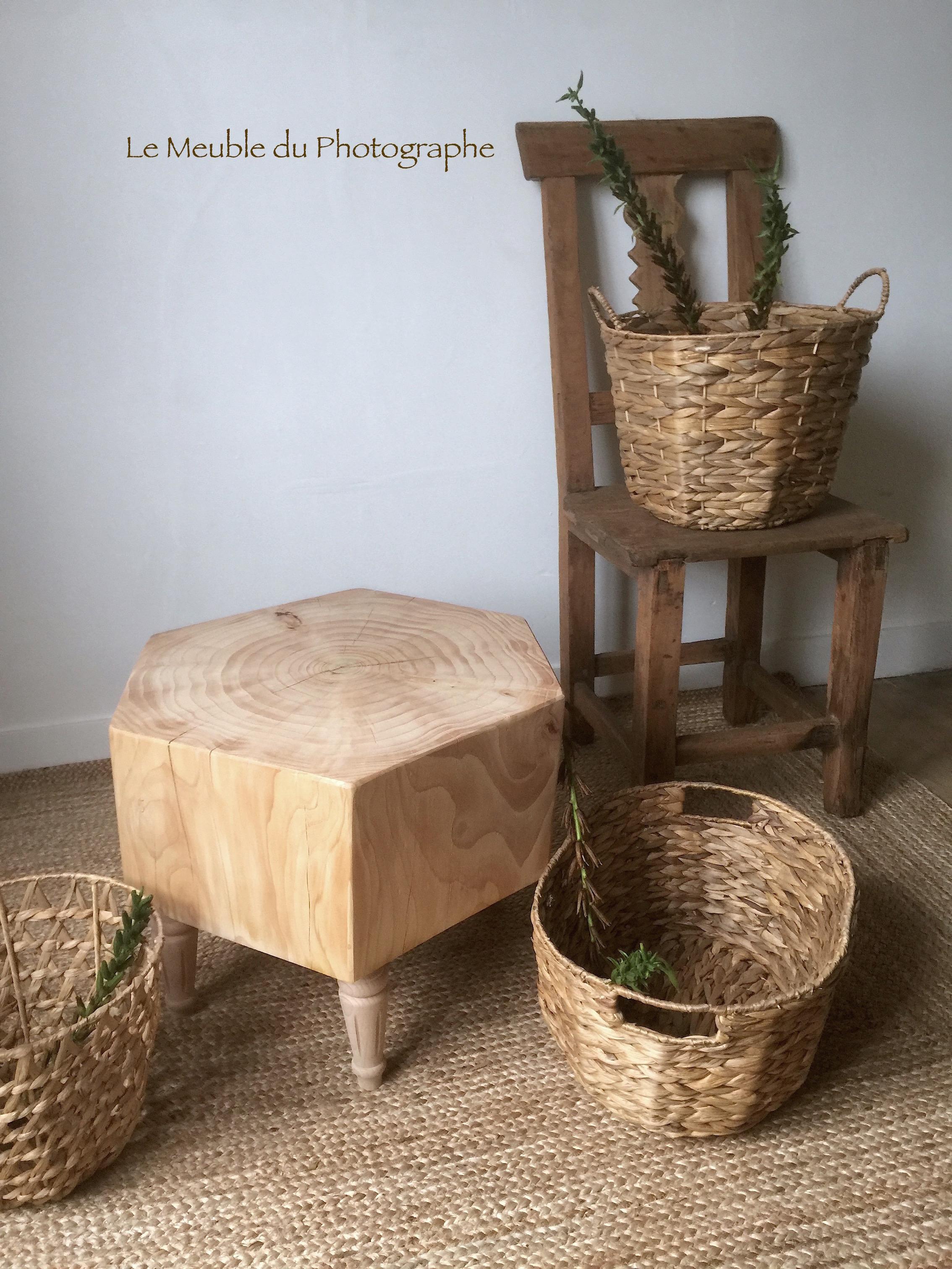 table basse rondin forme diamant 50cm soldes le meuble du photographe. Black Bedroom Furniture Sets. Home Design Ideas